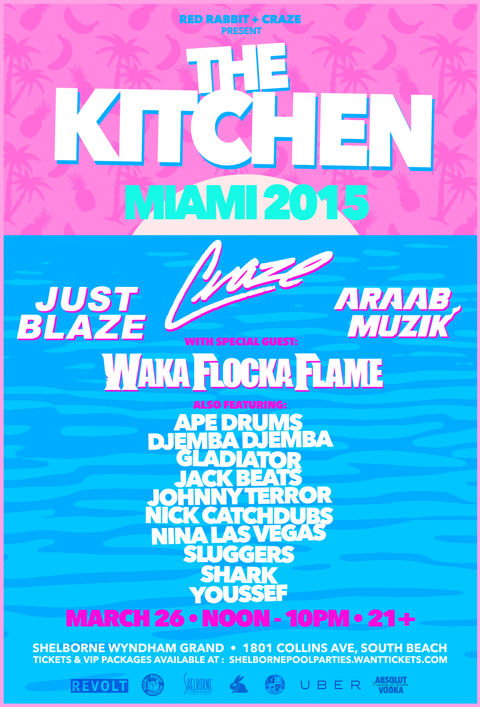 the kitchen pool party w red rabbit craze tickets wantickets